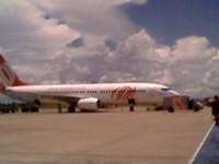 Uno de los aviones del viaje