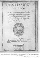 Portada de la Confesión Belga